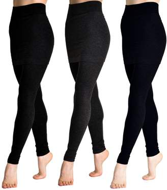 Angelina Cotton Blend Mini Skirt Leggings Q_BLK_Q