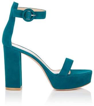 Gianvito Rossi Women's Portofino Suede Platform Sandals