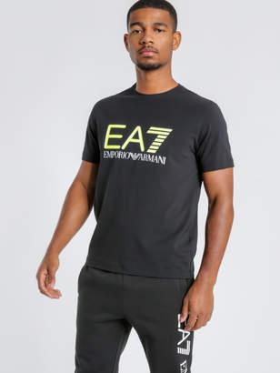 Emporio Armani Ea7 Train Logo Series T-Shirt in Black Fluro Yellow