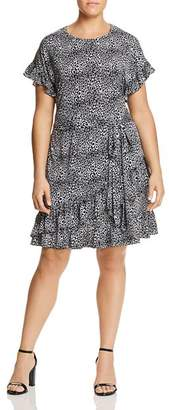 MICHAEL Michael Kors Animal-Print Ruffle Dress