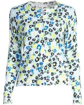 Escada Sport Floral Cotton-Blend Cardigan