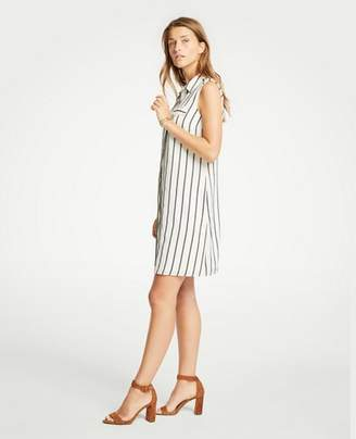 Ann Taylor Petite Striped Sleeveless Shirtdress
