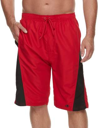 Champion Big & Tall Side-Striped Microfiber Board Shorts