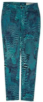 Rag & Bone Printed Low-Rise Skinny Jeans