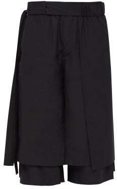 Craig Green Layered Cotton Poplin Shorts - Mens - Black