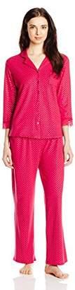 Ahh By Rhonda Shear Women's Lace Print Pajama Set