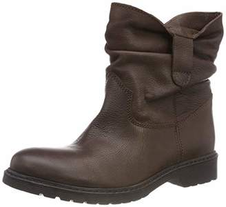 Buffalo David Bitton Women's's Peacock Leather Ankle Boots Brown 01 00