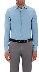 Isaia Men's Twill Leuca Shirt - Blue