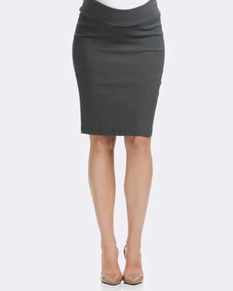 Soon Dot Print Pencil Maternity Skirt