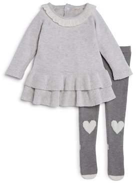 Miniclasix Girls' Sweater Dress & Tights Set - Baby