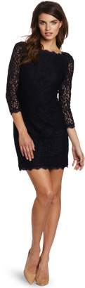 Adrianna Papell Women's Petite Long Sleeve Lace Dress