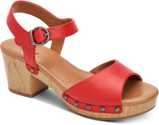 Style&Co. Style & Co Anddreas Platform Block-Heel Sandals, Women Shoes
