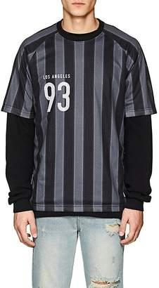Stampd Men's Striped Mesh Soccer Jersey