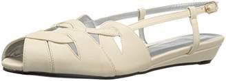 Annie Shoes Women's Kim Wide Calf Wedge Sandal $15.91 thestylecure.com