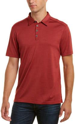 John Varvatos Hampton Silk-Blend Polo Shirt