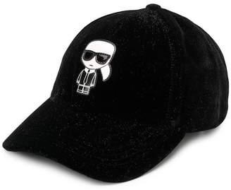 Karl Lagerfeld Ikonik velvet cap