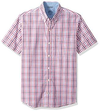 Izod Men's Saltwater Poplin Short Sleeve Shirt