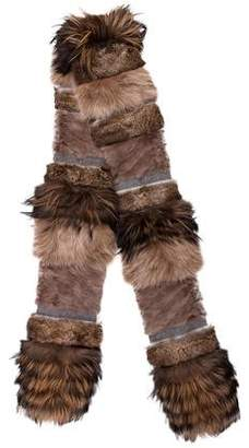Lanvin Fox Fur Scarf w/ Tags