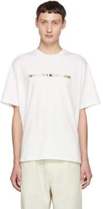 Sunnei White Everyday I Wear Classic T-Shirt