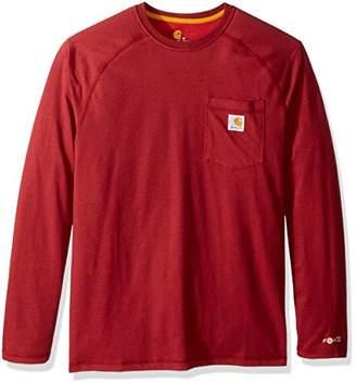Carhartt Men's Force Cotton Delmont Long Sleeve T-Shirt