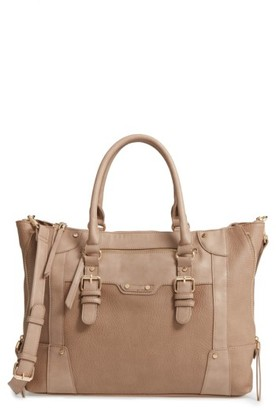 Sole Society 'Susan' Winged Faux Leather Tote - Brown $66.95 thestylecure.com