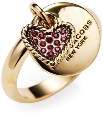 Marc by Marc Jacobs Jewelry Women's Coin & Heart Charm Ring