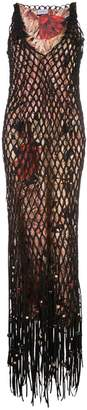 Salvatore Ferragamo layered mesh dress