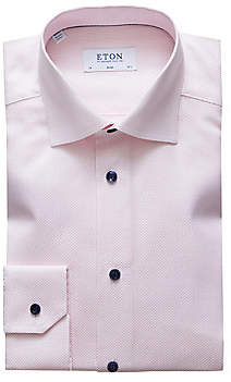 Eton Men's Slim-Fit Crease-Resistant Textured Shirt