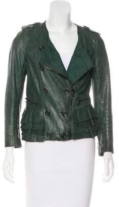 3.1 Phillip Lim Silk & Leather Jacket