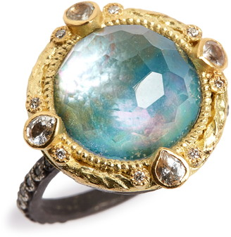 Armenta Old World Opal & Diamond Ring