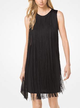 Michael Kors Matte-Jersey Fringed Dress