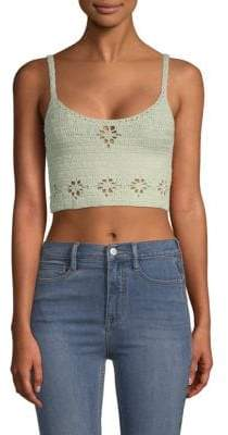 Free People Crochet Cropped Top