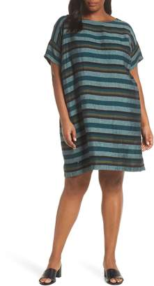 Eileen Fisher Stripe Organic Cotton Shift Dress
