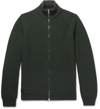 Mr P. - Ribbed Merino Wool Zip-Up Cardigan