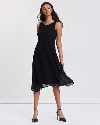 Wallis Petite Lace Top Fit-and-Flare Dress