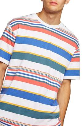 Topman Rainbow Stripe T-Shirt