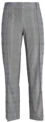 Cédric Charlier (セドリック シャルリエ) - Cedric Charlier Cropped Prince Of Wales Checked Cotton Straight-Leg Pants