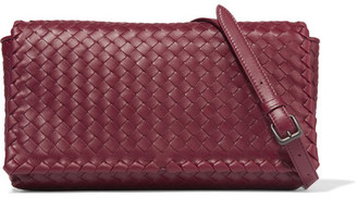 Bottega Veneta - Intrecciato Leather Shoulder Bag - Burgundy $1,950 thestylecure.com