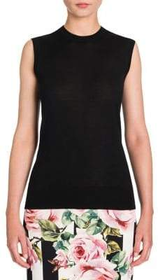 Dolce & Gabbana Cashmere& Silk Sleeveless Knit Top