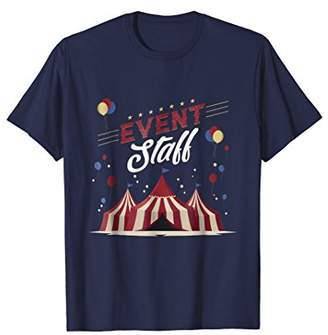 Circus Event staff Carnival Themed Birthday Party T-shirt