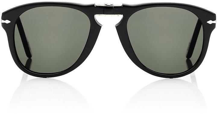 Persol Men's Folding Sunglasses-Black