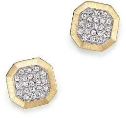 KC Designs Diamond Pavé Octagon Studs in 14K Yellow Gold, .20 ct. t.w.