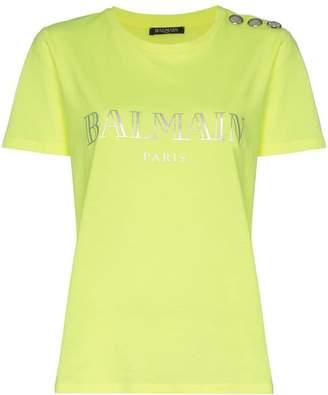 Balmain short sleeve logo top