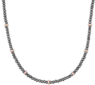 "Bronzo Italia Facted Hematite & Bronze 24"" Necklace"