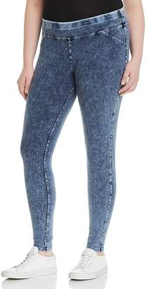 Andrew Marc Performance Plus Knit Denim-Look Leggings
