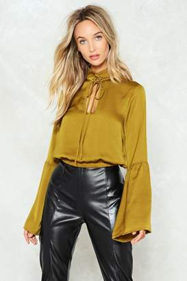 Nasty Gal Bell the Truth Satin Top