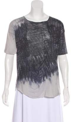 Raquel Allegra Tie-Dye Distressed Top
