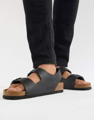 5b68360509f3 Birkenstock Milano birko-flor sandals in black