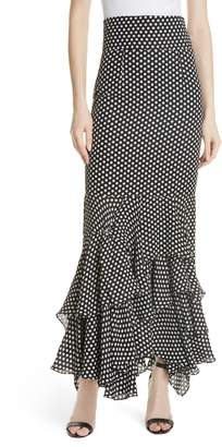 Milly Dot Print Silk Georgette Skirt
