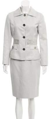 Dolce & Gabbana Rhinestone-Embellished Skirt Suit